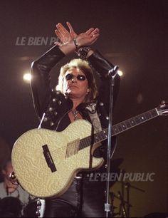 Johnny Hallyday en concert à Dijon le 11 avril 1996