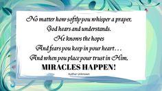 Does God Hear? - http://blog.peacebewithu.com/does-god-hear/