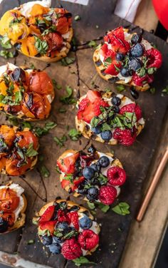 Whipped Goat Cheese Bruschetta (Triple Berry and Caprese Versions!) The Cookie Rookie