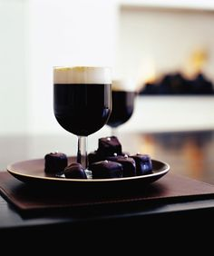Christmas cake is given a chocolate coating to make these sweet dessert nibbles. Serve with an Irish coffee for the best match.