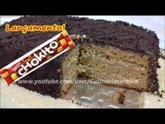 Bolo Chokito de Chocolate e Caramelo. ESPECIAL DIA DAS MÃES