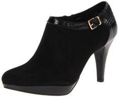 Bandolino Women's Channing Boot,Black Suede