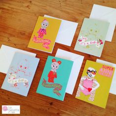 New baby cards & birthday cards on #labeletterose eshop: www.labeletterose.com