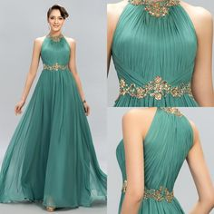 2016 new arrival prom dresses halter crystal beads ruffles a line long modest green formal evening party pageant woman dress gowns 2015 brand prom dresses Modest Dresses, Elegant Dresses, Formal Dresses, Prom Dresses 2016, Custom Dresses, Formal Prom, Party Dresses, Cheap Mermaid Prom Dresses, Dress Brokat