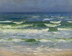 Morceau de mer - Planchers Bay, près de Auchmithie de William Bradley Lamond (1857-1924, United Kingdom)