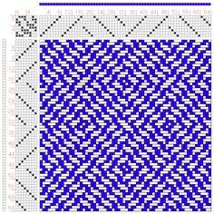 Hand Weaving Draft: Figure A Handbook of Weaves by G. Weaving Designs, Weaving Projects, Weaving Patterns, Textile Patterns, Knitting Patterns, Inkle Weaving, Tablet Weaving, Weaving Art, Hand Weaving