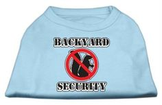 Mirage Pet Products 10Inch Backyard Security Screen Print Shirts Small Baby Blue by Mirage Pet Products >>> You can get additional details at the image link.