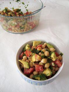 Salada de Verão com Grão e Abacate