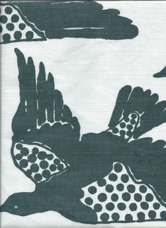 Hable Construction - Raven Birds, Exclusively available to the Trade. Email us for a referral. (http://shop.hableconstruction.com/fabric/raven-birds/)