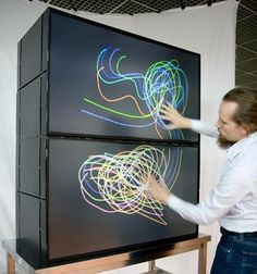 Modular multi-touch screen Touch Screen Technology, Multi Touch, Interactive Design, Signage, Google, Lego, Moving Forward, Illusion, Cloud