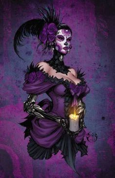 x full color print of Lady Mechanika: The Clockwork Assassin Cover. Signed by Joe Benitez. Comic Book List, Best Comic Books, Comic Books Art, Lady Mechanika, Chicano, Day Of The Dead Artwork, Beste Comics, Steampunk Book, Gothic Fantasy Art