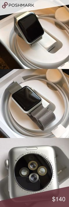 Apple Watch Series 2 38mm Stainless Steel Silver 100% Authentic  We are a very negotiable service  We provide overnight shipping and express shipping  Our transactions are made through third party applications  If you are interested in buying this product please contact us @ 646-961-2836  Apple Accessories Watches