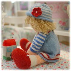 Doll Knitting Pattern Deal/ 4 TEAROOM Dolls by maryjanestearoom