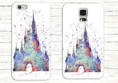 Disney's Cinderella Castle Watercolor Phone Case, Disney iPhone Case