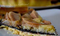 tarte sablée aux poires sur lit de chocolat et crème aux amandes
