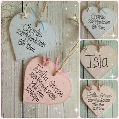PERSONALISED NEW BABY BOY GIRL KEEPSAKE GIFT PLAQUE | Dins Creations MISI Handmade Shop