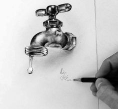 Drawing Easy pencil drawings - Drawings is an amazing form of art, where the pencil drawings seem to literally jump off the page. Most artists use graphite pencils for creating the look. Easy drawings are usually small 3d Pencil Drawings, Pencil Shading, Pencil Drawing Tutorials, Realistic Drawings, Art Drawings Sketches, Easy Drawings, 3d Pencil Art, Awesome Drawings, Horse Drawings