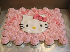 Hello Kitty Cupcake cake for Everly's 2nd birthday