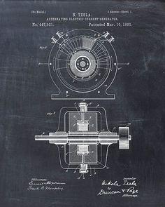 Patente Generador eléctrico, Nikola Tesla