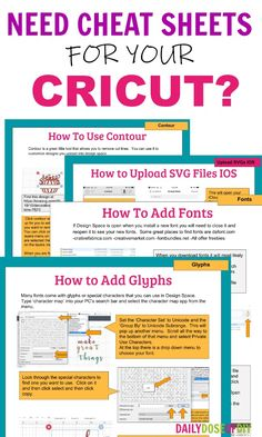Make your Cricut project ideas come to life quicker and easier with these cheat sheets that guide you with your Cricut crafts. #cricutcraft #cricutmade #cricutproject