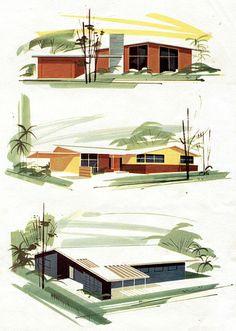 Cape Coral, Florida - Modern Living | Illustrator: Unknown | Source: ElectroSpark - http://www.flickr.com/photos/electrospark