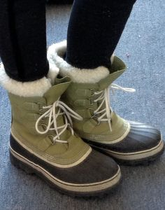 I love my Sorrell boots. they keep my feet warm and dry plus they are super cute! And since I wouldn't be caught dead in Uggs they are a great winter option for keeping my toes toasty