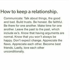 how to keep a relationship together