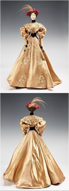 """""""1896 Doll"""" by Bruyère (designer: Luzie), 1949, at the Met. The inspiration for this dress came from a design by Jacques Doucet. See: http://www.metmuseum.org/collections/search-the-collections/159251?img=0"""