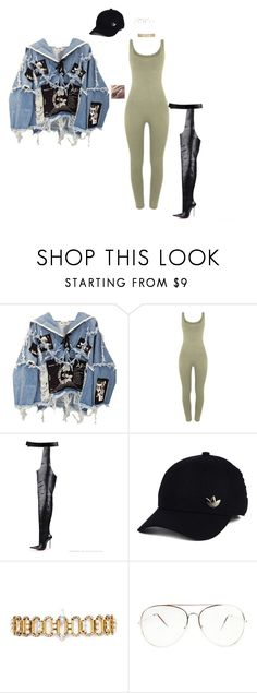 """""""Untitled #484"""" by jsmnmr ❤ liked on Polyvore featuring BLK DNM, adidas and Erickson Beamon"""