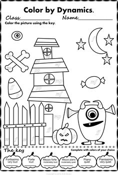 halloween color by music pack - Halloween Coloring Contest 3