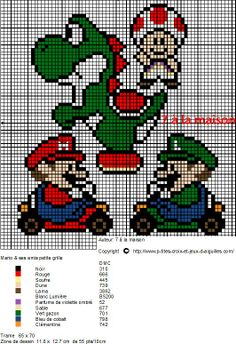 héros-cartoon-bd - super mario - point de croix - cross stitch - Blog : http://broderiemimie44.canalblog.com/
