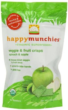 Non-GMO ingredients No added sugar, preservatives, flavors or colors Choline for healthy eye and brain development Happy Family happy munchies Veggie & Fruit Crisps - Apple & Spinach - 1 oz Veggie Snacks, Fruit Snacks, Healthy Snacks, Healthy Recipes, Organic Snacks, Organic Superfoods, Health Benefits Of Lime, Baby Food Recipes, Snack Recipes