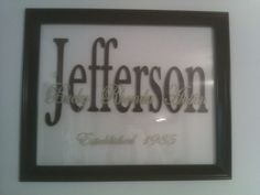 Vinyl floating frame DIY love this as a gift