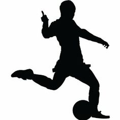 Soccer Wall Decal Sticker - 36 in. Soccer Player Silhouette Decoration Mural Art ( Black Vinyl ): Amazon.ca: Home & Kitchen-amazon $30