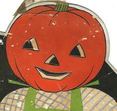 1930's Pumpkin Scarecrow Color Copy Up Cycle by TheIDconnection, $10.00