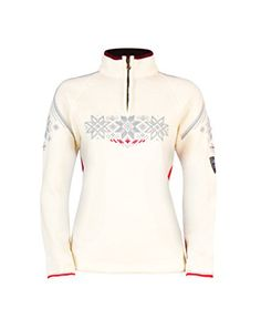 Dale of Norway Women's Holmenkollen Sweater, Off White/Raspberry/Metal, Large >>> You can find out more details at the link of the image.