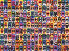 Super Sentai (Power Ranger Helmets start mid way through)