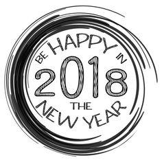 2018, kaart met Happy new Year tekst en zwart frame. Sprankelende vakantie achtergrond, vector stof grens. Ideaal voor Kerstmis en Nieuwjaar kaarten, uitnodigingen en posters vectorkunst illustratie