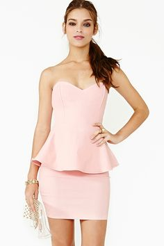 Heart Spark Peplum Dress cute valentines day outfit