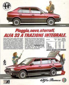 Alfa Romeo Alfa 33 in Italian Alfa Romeo Cars, Car Advertising, Automotive Industry, Motor Car, Cars And Motorcycles, Vintage Cars, Ferrari, Classic Cars, Automobile
