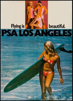Pacific Southwest Airline Poster, 1970s