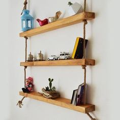 BonLaVie added a new photo. Small Shelves, Wood Shelves, Floating Shelves, Custom Jewelry Design, All Wall, Real Wood, Natural Wood, Home Accessories, House Design