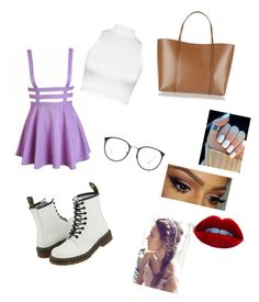 """Docs"" by swimmergurl1234 ❤ liked on Polyvore featuring WearAll, Dr. Martens, Dolce&Gabbana and Linda Farrow"