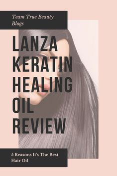 Team True Beauty Blogs: Lanza Keratin Healing Oil Review: 5 Reasons It's The Best Hair Oil - Lanza Healing Oil is just that. A hybrid healing oil. It has Keratin Protein (the stuff that our hair is made of) and Phyto IV Complex. In simple terms, it replaces the protein and vitamins that our hair loses when we color it, expose it to the environment, use heat styling, or anything else we do that can cause our hair damage. #hairstyles #hairoil #hairstyles #haircolor #haircuts #haircurler