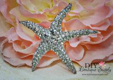 Starfish Brooch Rhinestone Crystal Brooch Bouquet Embellishment Beach Wedding Bridal Accessories Brooch Sash Pin 50mm 489133