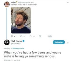 One Direction Tweets, One Direction Photos, I Love One Direction, Stupid Funny Memes, Funny Tweets, Niall Horan Funny, James Horan, 1d And 5sos, Thing 1