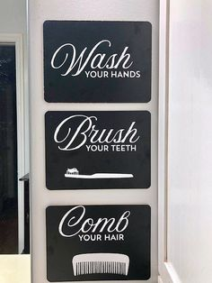 DIY Bathroom Signs with #Dollar Tree chalkboards and Chalk Couture for a high-end look for your bath! #dollarstore #dollarstorehacks #dollarstorecrafts #chalkcouture #chalkboards