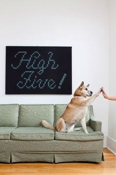 Giant High Five CrossStitch by jdmakesthings on Etsy,