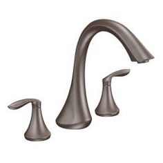 Moen Deck Mounted Roman Tub Faucet Trim from the Eva Collection (Less Valve Oil Rubbed Bronze Faucet Roman Tub Double Handle Tub, Bronze Bathroom, Roman Tub Faucets, Bronze, Moen, Oil Rubbed Bronze Bathroom, Faucet, Roman Tub, Tub Faucet