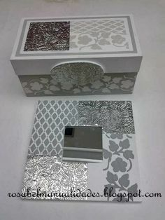 Rosabel manualidades: Estaño repujado                                                                                                                                                      Más Aluminum Foil Art, Aluminum Crafts, Metal Crafts, Ikea Mirror, Mirror Art, Metal Worx, Pewter Art, Decoupage Box, Altered Boxes